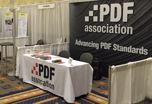 PDF Association booth at Xplor 2015