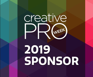 CreativePro Week 2019 sponsor badge