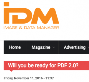 IDM: Will you be ready for PDF 2.0?