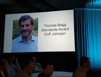 Duff Johnson receives the Thomas Bagg Standards Award