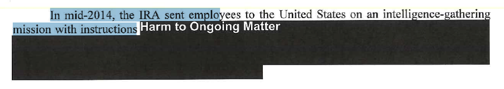 Screenshot from the mueller report showing text that did not OCR.